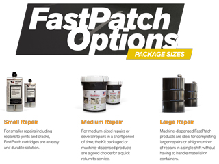 FastPatch by POLYQuik Package Sizes