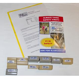 SlabGasket Expansion Joint Replacement Free Sample Pack 1