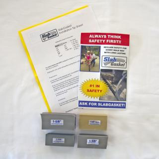 SlabGasket XL Expansion Joint Replacement Free Sample Pack 1